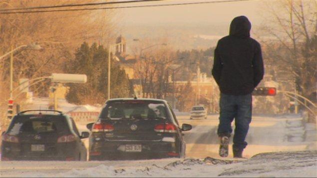 Marcher à -25°C, une rue, à Saguenay