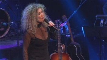 Marie-Michèle Desrosiers lors du spectacle inaugural du Théâtre Banque Nationale