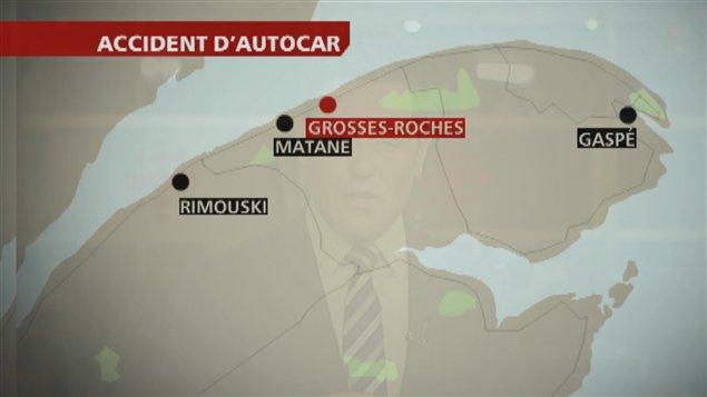 L'accident s'est produit à Grosses-Roches.