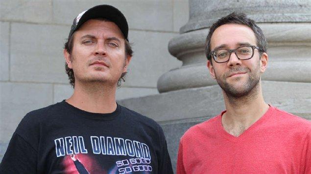 Les créateurs de Série noire François Létourneau et Jean-François Rivard.