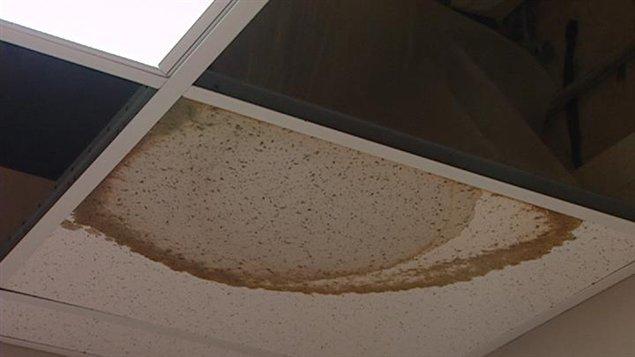 Le plafond coule au centre éducatif Gard'Amis de Regina