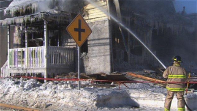 Incendie à Saint-Boniface