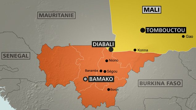 Une carte du Mali