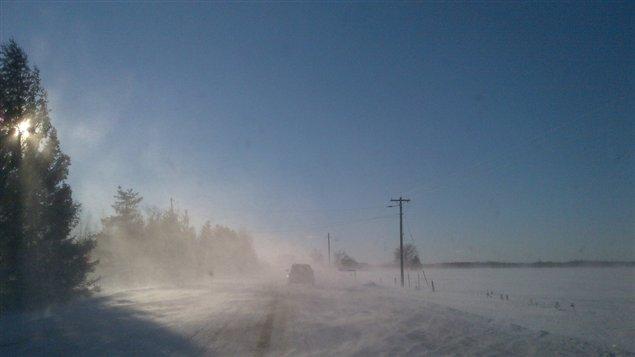 Les conditions routières sont médiocres dans l'est de l'Ontario.