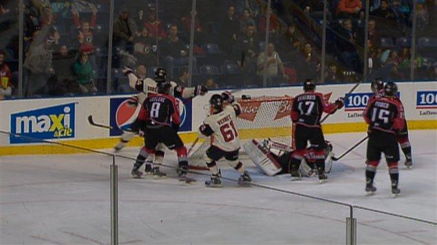 Les Remparts de Québec ont battu les Huskies 3 à 2.