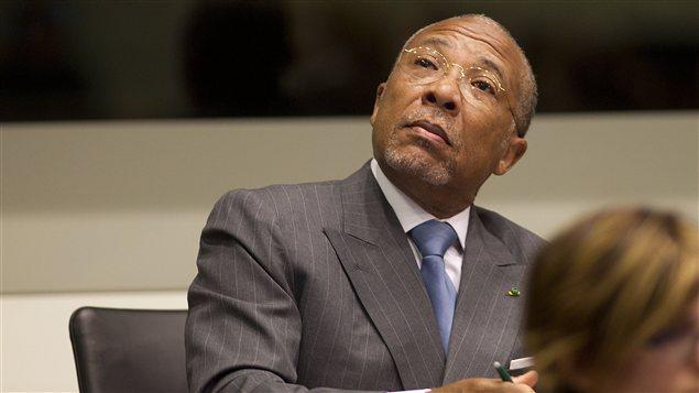 L'ex-chef d'État du Liberia Charles Taylor au Tribunal spécial pour les crimes de guerre en Sierra Leone (TSSL) le 16 mai 2012.