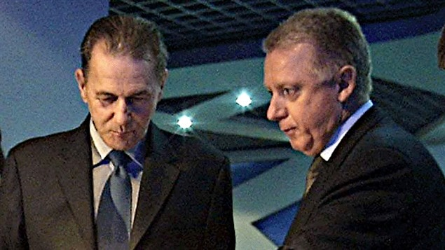 Jacques Rogge et Hein Verbruggen