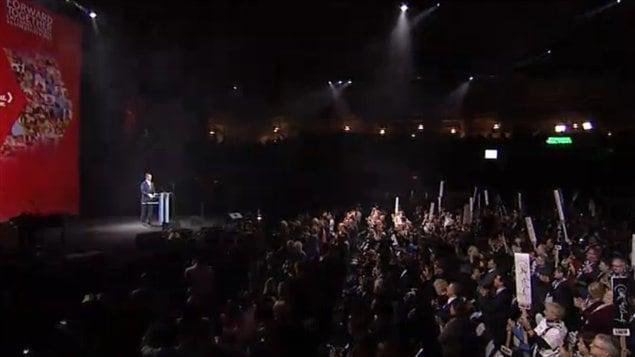 Les militants libéraux ont ovationné Dalton McGuinty.