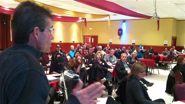 Première réunion du Front commun de l'Est du Québec à Mont-Joli