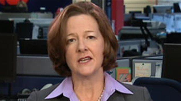 La première ministre de l'Alberta, Alison Redford, dans les bureaux de CBC News.