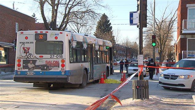 Un autobus de la STM a happé mortellement un piéton