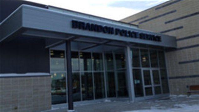 Un poste de police à Brandon au Manitoba