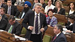 Stephen Harper au Parlement, le 28 janvier.