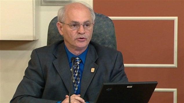 Le conseiller municipal, Denis Miousse