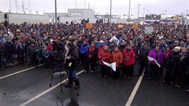 Manifestation contre la réforme de l'assurance-emploi aux Îles-de-la-Madeleine