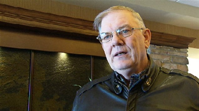 Le président de l'Association des pêcheurs, Michael McGeoghegan.