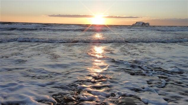 Iles-de-la-Madeleine, golfe du Saint-Laurent en hiver
