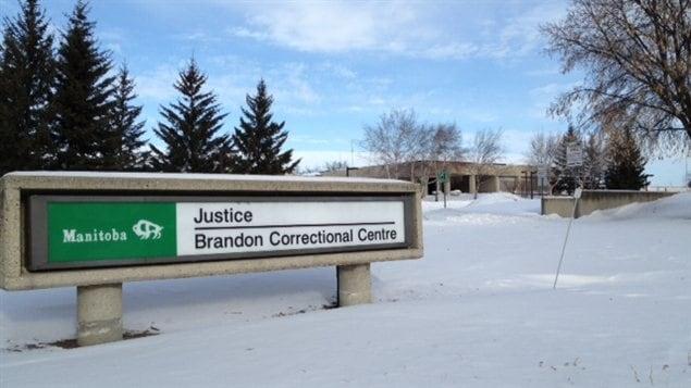 Image du Centre correctionnel de Brandon au Manitoba, le 26 janvier 2013.