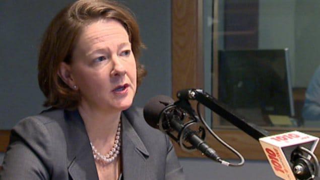 La première ministre de l'Alberta accorde une entrevue à l'émission du matin de CBC à Calgary, le lundi 28 janvier 2013.