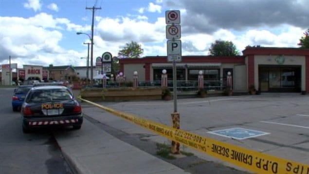 Le drame est survenu dans le stationnement du resto-bar Déjà Vu à Hawkesbury.