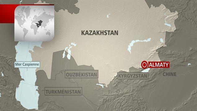 Almaty, au Kazakhstan