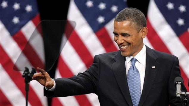 Barack Obama lors de son discours à Las Vegas