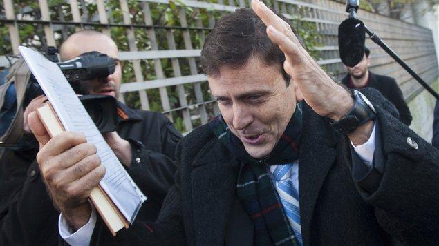 Le Dr Eufemiano Fuentes à Madrid, en Espagne, à l'ouverture du procès de l'affaire Puerto
