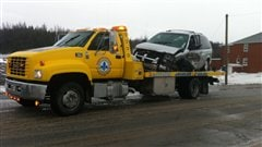Accident à Sainte-Luce, sur la route 132