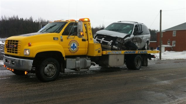 Accident à Sainte-Luce, sur la route 132