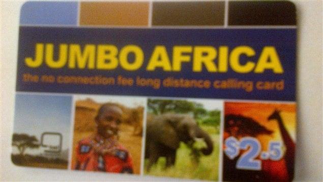 La carte d'appels téléphoniques prépayés, Jumbo Africa