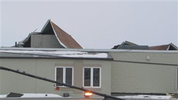 Une partie du toit du bar Heaven s'est envolée