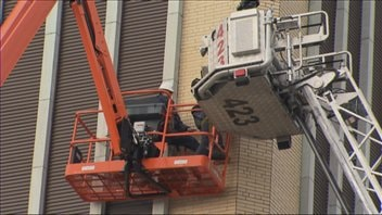 Les travailleurs ont été récupérés par les pompiers de Saguenay
