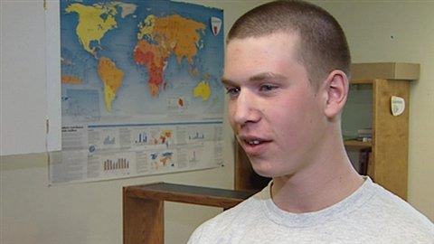 Jonathan Cyr, élève à l'École Boréale de Ponteix
