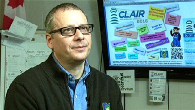 Roberto Gauvin, directeur du Centre d'apprentissage du Haut-Madawaska.