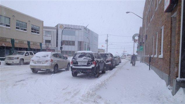 Tempête de neige à Rouyn-Noranda