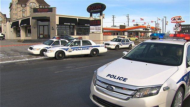 Les lieux du crime sur la rue St-Martin Ouest à Laval