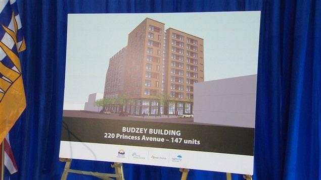 Un dessin de l'immeuble Budzey.