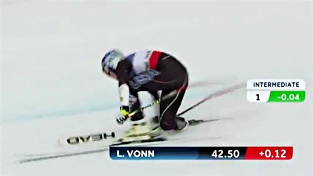 Lindsey Vonn chute à Schladming