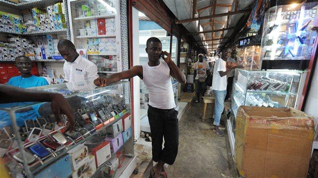 Boutique de cellulaires en Côte d'Ivoire