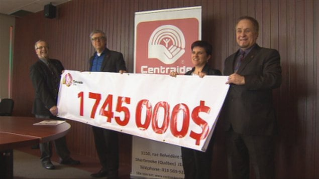 La campagne de Centraide Estrie 2012 a permis de recueillir 1 745 000 $.