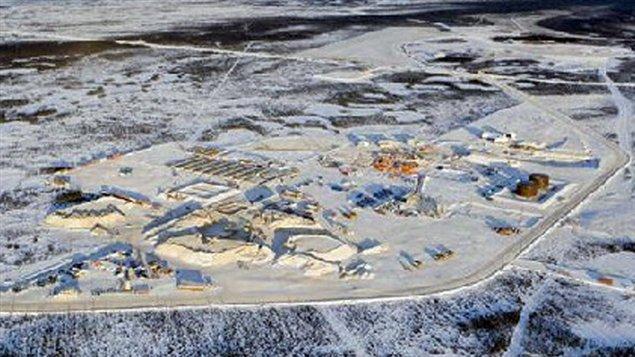 La mine Victor de De Beers, à 90 km à l'ouest d'Attawapiskat