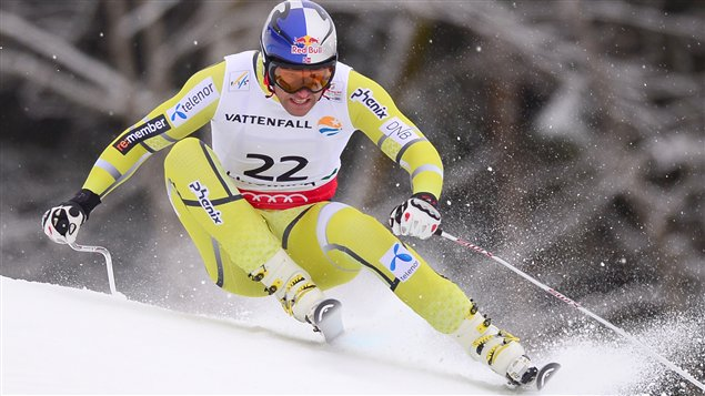Le Norvégien Aksel Lund Svindal à Schladming