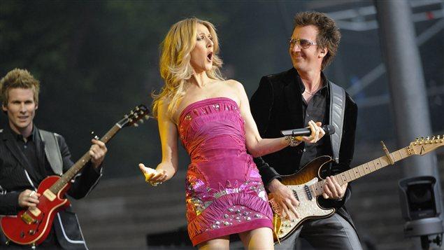 Céline Dion à Berlin en juin 2008
