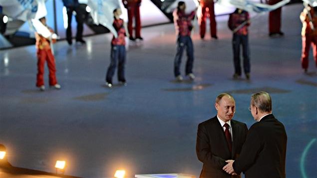 Vladimir Poutine et Jacques Rogge