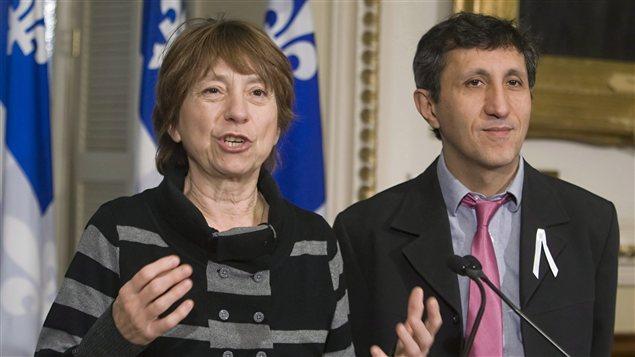 Françoise David et Amir Khadir.