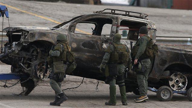 La camionnette incendiée de Christopher Dorner a été retrouvée à Big Bear à 125 km de Los Angeles.