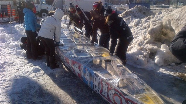 La pesée des canots a eu lieu en matinée.