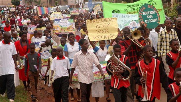 Une manifestation contre l'homosexualité à Kampala, en Ouganda, en 2010.
