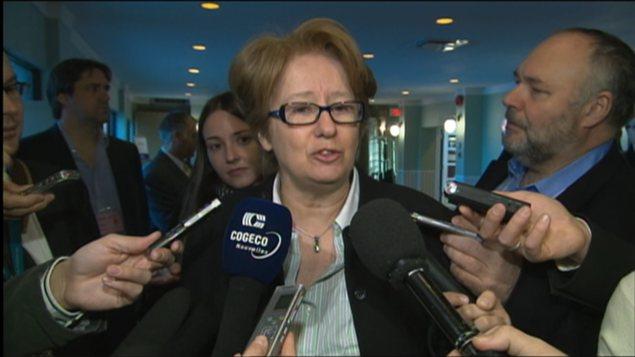 La ministre de l'Emploi du Québec, Agnès Maltais
