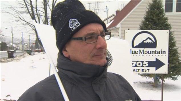 Grève chez Blue Mountain de Sherbrooke